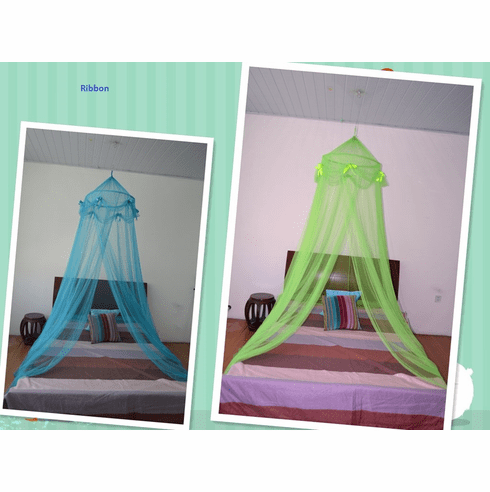 Octorose ® Ribbon Bed Canopy Mosquito Net for All Size Bed, Outside Party Events