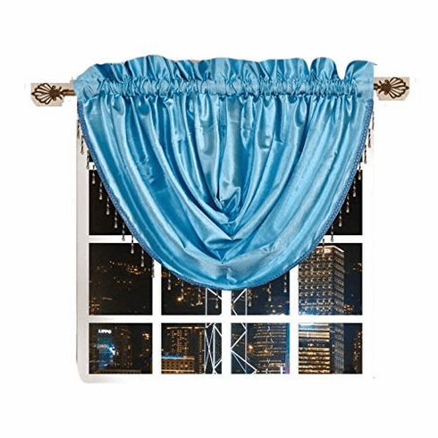 Octorose ® Royalty Custom Waterfall Window Valance and Swags & Tails 66x37""