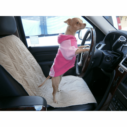 OctoRose Set of 2 Quilted 20x54 Classic Micro Suede Pets Car Seat Covers Pad Protector