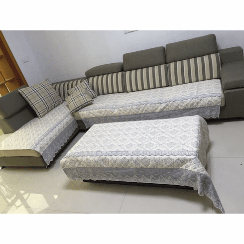 Ofit 35x62 inch Soft Brush Microfiber Quilted Sectional Sofa Throw Pads Furniture Protector Sold by Piece Rather Than Set
