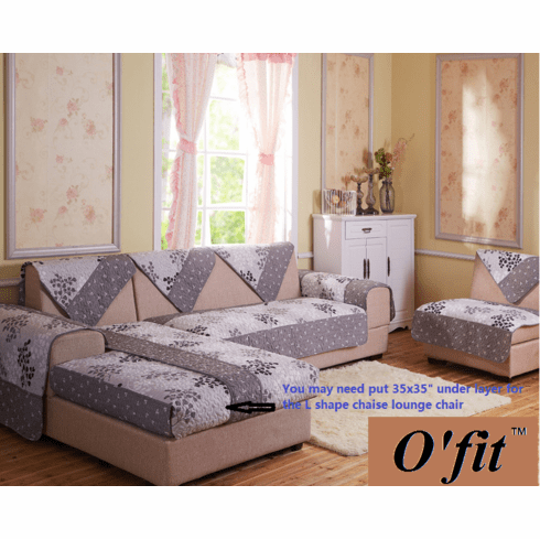Ofit 35x82 inch Soft Brush Microfiber Quilted Sectional Sofa Throw Pads Furniture Protector Sold by Piece Rather Than Set