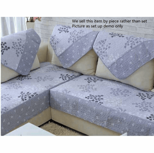 Ofit 35x94 inch Soft Brush Microfiber Quilted Sectional Sofa Throw Pads Furniture Protector Sold by Piece Rather Than Set