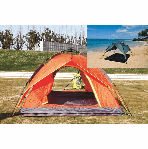 Ofit Waterproof Push Up Outdoor 2 Person Double Layer Instant Camping Beach Family Tent