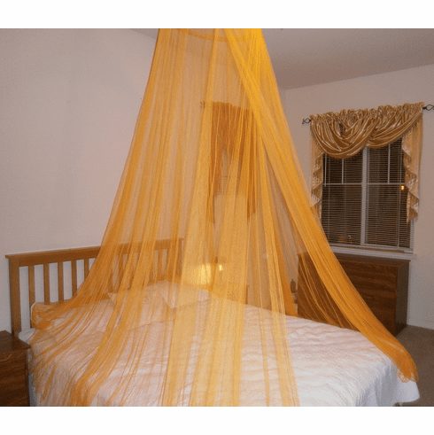 Orange hoop Bed Canopy Mosquito net for Crib, twin, full, Queen or King Size bed and outdoor Easy set and Carry