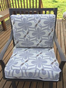 Patio Chair Seat & Chair Back Cover Set