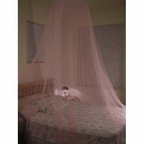 Pink Bed Canopy Mosquito net for Crib, twin, full, Queen or King Size bed and outdoor Easy set and Carry
