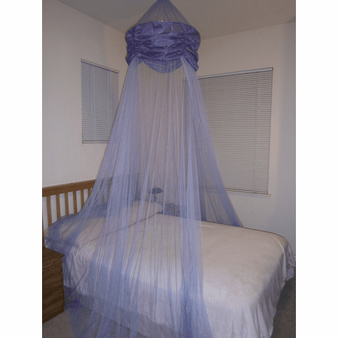 Purple Hoop Valance Bed Canopy Mosquito Net fit all size bed outdoor party and camping