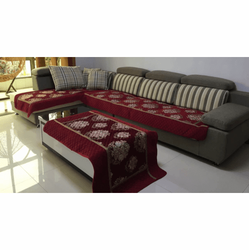 """Quilted Chenille Custom Sectional Sofa Couch Slipcovers Furniture Protector 35x35"""""""