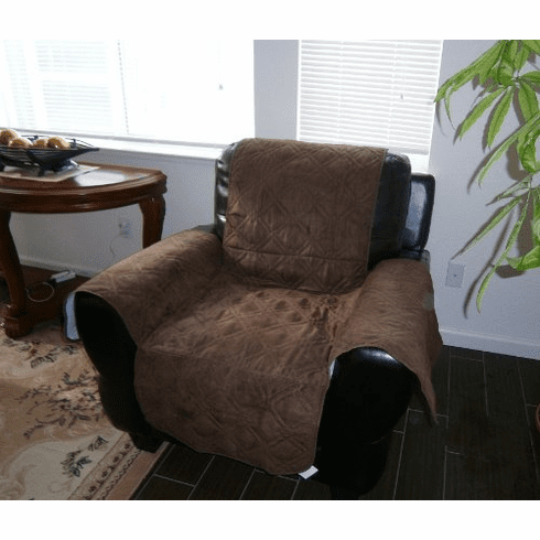 Quilted Classic Micro Suede Pet Armchair Slipcovers Throw Pad Furniture Protector