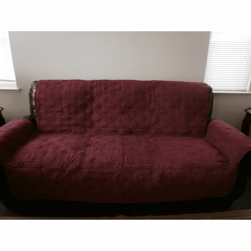 Quilted Classic Micro Suede  Pet Sofa Love Seat  Slipcovers Throw Pad Furniture Protector