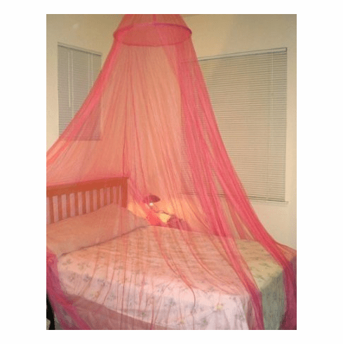 Red hoop Bed Canopy Mosquito net for Crib, twin, full, Queen or King Size bed and outdoor Easy set and Carry