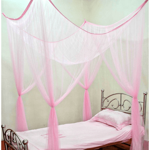 Twin size Single Bed mutiple Color 4 Corner / Post Bed Canopy Mosquito Net