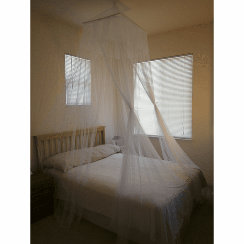 White Octorose ® Square Top Bed Canopy Mosquito Insect Net Fit All Size Bed From Crib, Twin, Queen, King and Cal King