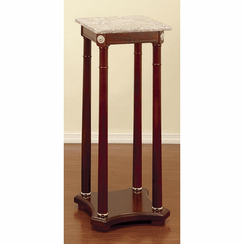 Wood Square Pedestal 33 inches high, 12 inches Wide