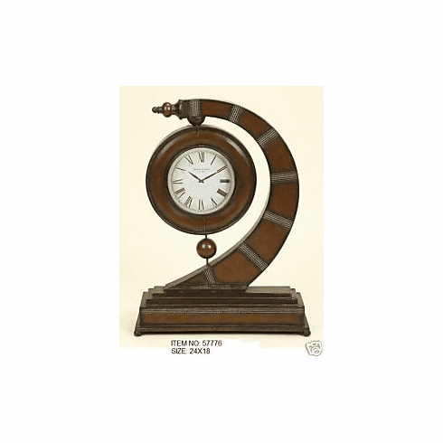 Wrought Iron Metal Sculpture Clock Decor Art 24x18 Inches  776