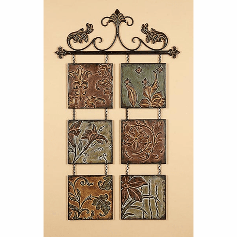 "Wrought Iron Metal Sculpture Wall Decor Art 40x23""(204)"