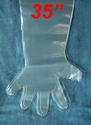 """35"""" Disposable Plastic Gloves (click here)"""