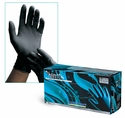 Black Latex Exam Gloves - Phantom