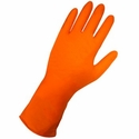 (SOLD-OUT) 6X Orange Nitrile Gloves, 6 Mil Strong, Extended Cuff