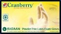 (SOLD-OUT) Cranberry Sigma PF Latex Exam Gloves 6.5 mils.