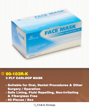 (In-Stock) FACE MASK / 3 Ply Earloop Mask