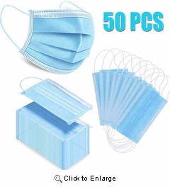 (In-Stock) Pleated-Earloop-Face-Masks