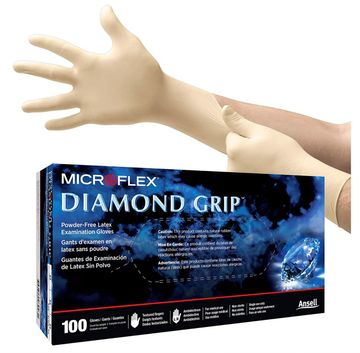(In-Stock) Latex Gloves | Microflex Diamond Grip