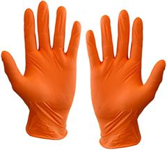 (In-Stock) 6 Mil Orange Nitrile Gloves