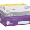 Simply Right Adult Care Briefs Large 48 ct
