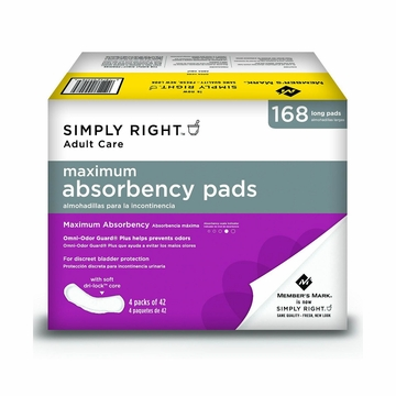 Simply Right Ultra Plus Pads 168 ct