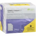 Simply Right Underpads 23x36 120 ct