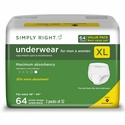 Simply Right Unisex Maximum Absorbency Protective Underwear X-Large