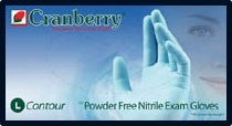 (SOLD-OUT) Cranberry Contour Powder-Free Nitrile Exam Gloves