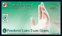 (SOLD-OUT) Cranberry Original Lightly-Powdered Latex Exam Gloves