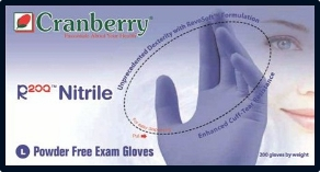 (SOLD-OUT) Cranberry R200 Cool Blue PF Nitrile Exam Gloves