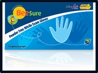 (SOLD-OUT) Ecobee BeeSure Powder-Free Nitrile Exam Gloves 4.7 mil