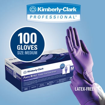 (SOLD-OUT) Kimberly Clark Purple Nitrile Exam Gloves
