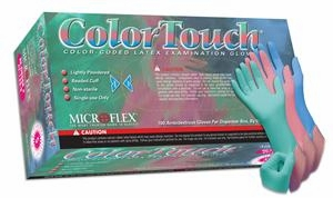 (SOLD-OUT) Latex Gloves   Microflex Color Touch   Peppermint Scented