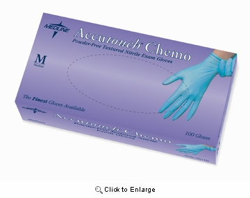 (SOLD-OUT) Nitrile Gloves: Accutouch Chemo Exam Gloves