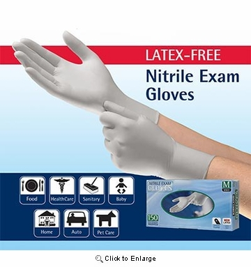 (SOLD-OUT) White Soft Nitrile Gloves - Case of 400