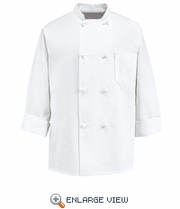 0411 Eight Knot Button Chef Coat