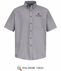 1104SV Acura® Men's Short Sleeve Poplin Dress Shirt