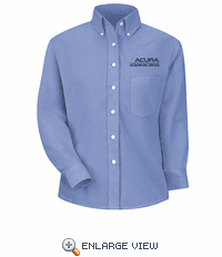 1127LB Acura® Accelerated Women's Long Sleeve Light Blue Executive Oxford Dress Shirt