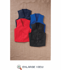 1360 V-Neck Button Front Vest (4-Colors)