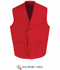1360RD Red V-Neck Button Front Vest