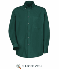1T12EM Men's Emerald Green Long Sleeve Meridian Preformance Twill Shirt