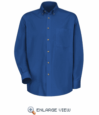 1T12RB Men's Royal Blue Long Sleeve Meridian Preformance Twill Shirt