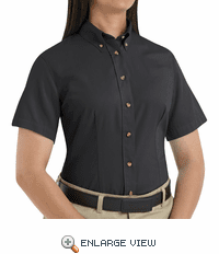 1T21 Women's Short Sleeve Meridian Preformance Twill Shirt