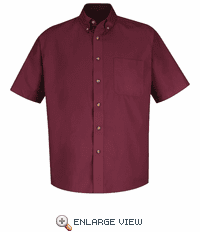 1T22BU Short Sleeve Burgundy  Meridian Preformance Twill Shirt