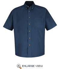 1T22NV Short Sleeve Navy Meridian Preformance Twill Shirt